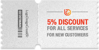 5% discount coupon for all services
